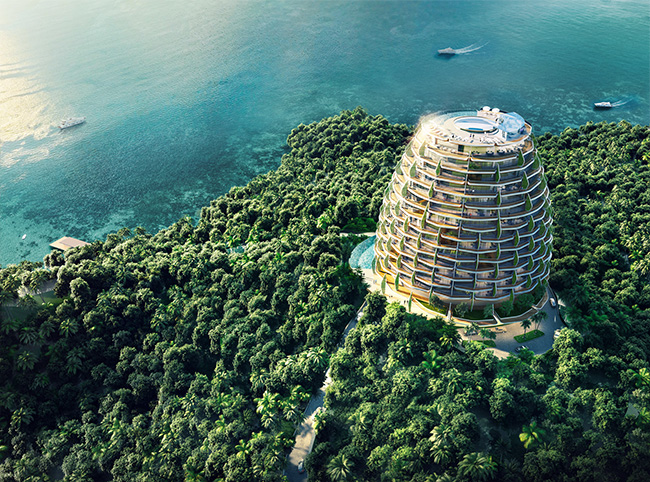Hotel Birdview Perspective